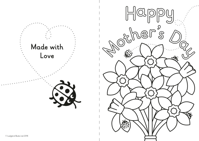A diy mother s day card for little ones ladybird blog for Mothers day card coloring page